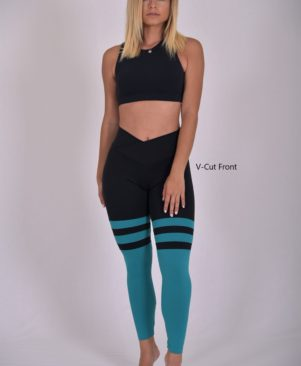 Black Jade Striped Leggings (Custom-Made)