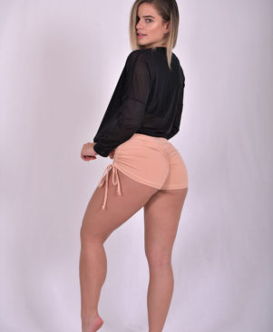 NC Shape Side Tie Short Shorts
