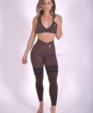 NC Urban Black Aerobic Striped Leggings