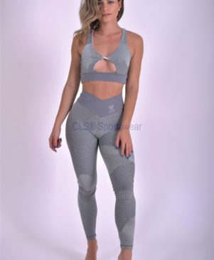 NC Galaxy Infinity Cinza Dry Textured Leggings And Biker Shorts