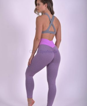 NC Geo Textured Aurora Leggings And Biker Shorts