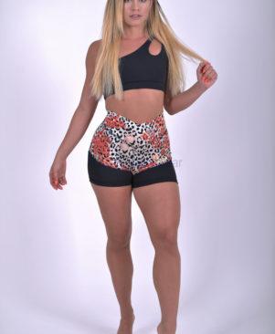 NC Shape Wild Small Marine Leopard Mesh Shorts