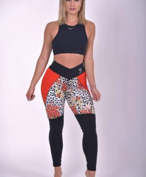NC Mix Red Marine Leopard Leggings