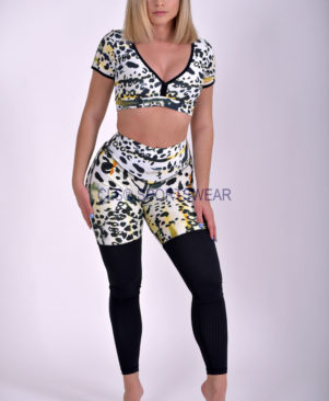 NC Yoga Leggings Shape Cheetah Mesh