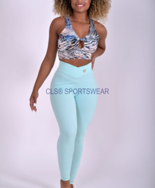 NC Shape Seamless Front Leggings Verde Summer