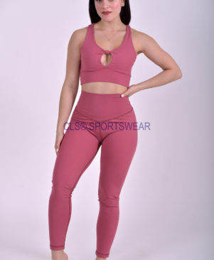 NC Yoga Leggings Shape Rose Wine
