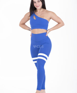 NC Seamless Front Striped Leggings Palace Blue