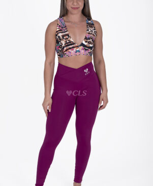 NC Confort Roxo V Waist Leggings