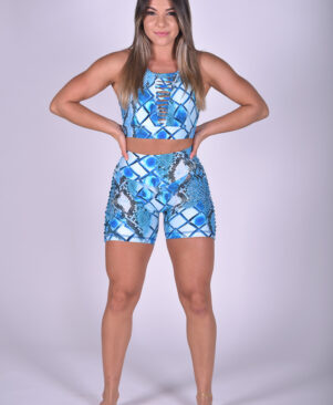 NC Shape Diamond Slits Top Blue Snake