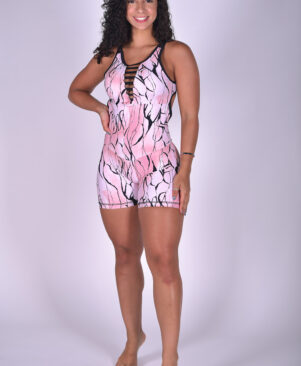 NC Active Jumpsuit Pink Marble