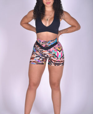NC Shape Seamless Front Shorts African