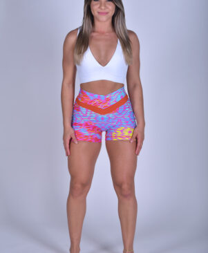 NC Shape Seamless Front Shorts Geometric
