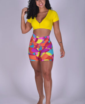 NC Shape Biker Shorts Colorful Pebbles