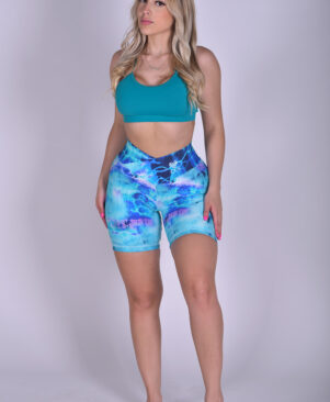 NC Shape Biker Shorts Blue Tie Dye