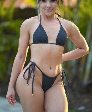 NC Alana Triangle Bikini Top Preto