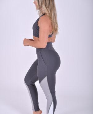 NC Shape Contrast Leggings Dark Grey