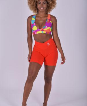 NC Shape Biker Shorts Vermelho