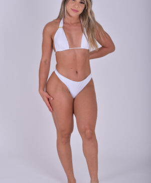 NC Olivia Scrunch Bikini Bottom Branco