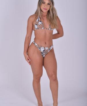 NC Olivia Scrunch Bikini Bottom Polka Dot Garden