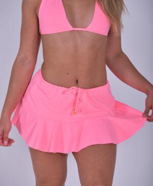 NC Lui Mini Skirt Coral Fluo