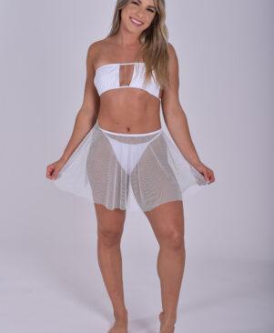 NC Zoe Mini Skirt Branco