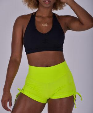 NC Shape Side Tie Short Shorts Hazard Green