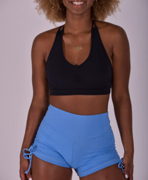NC Confort Side Tie Shorts Blue Ice