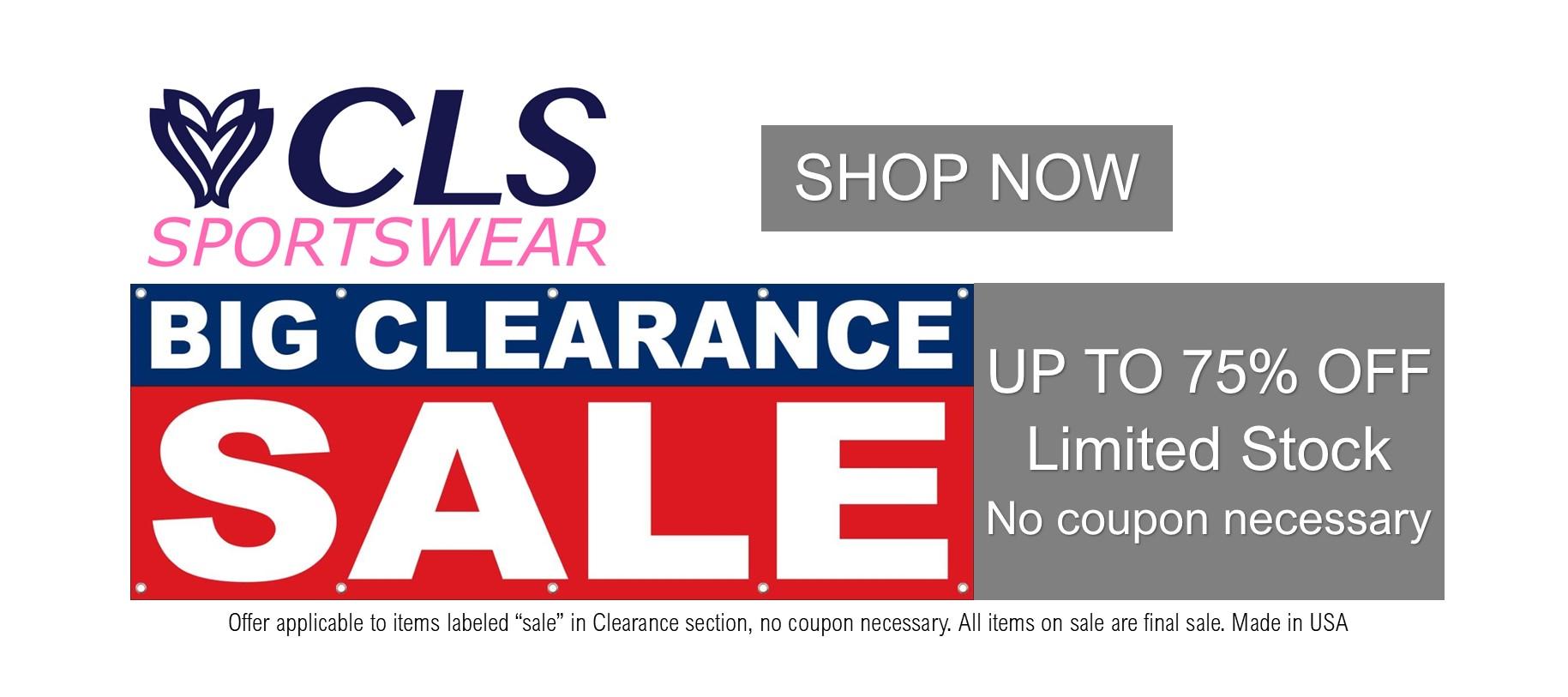 https://clssportswear.com/wp-content/uploads/2021/07/Announce-Slider_Clearance_75_Percentoff.jpg